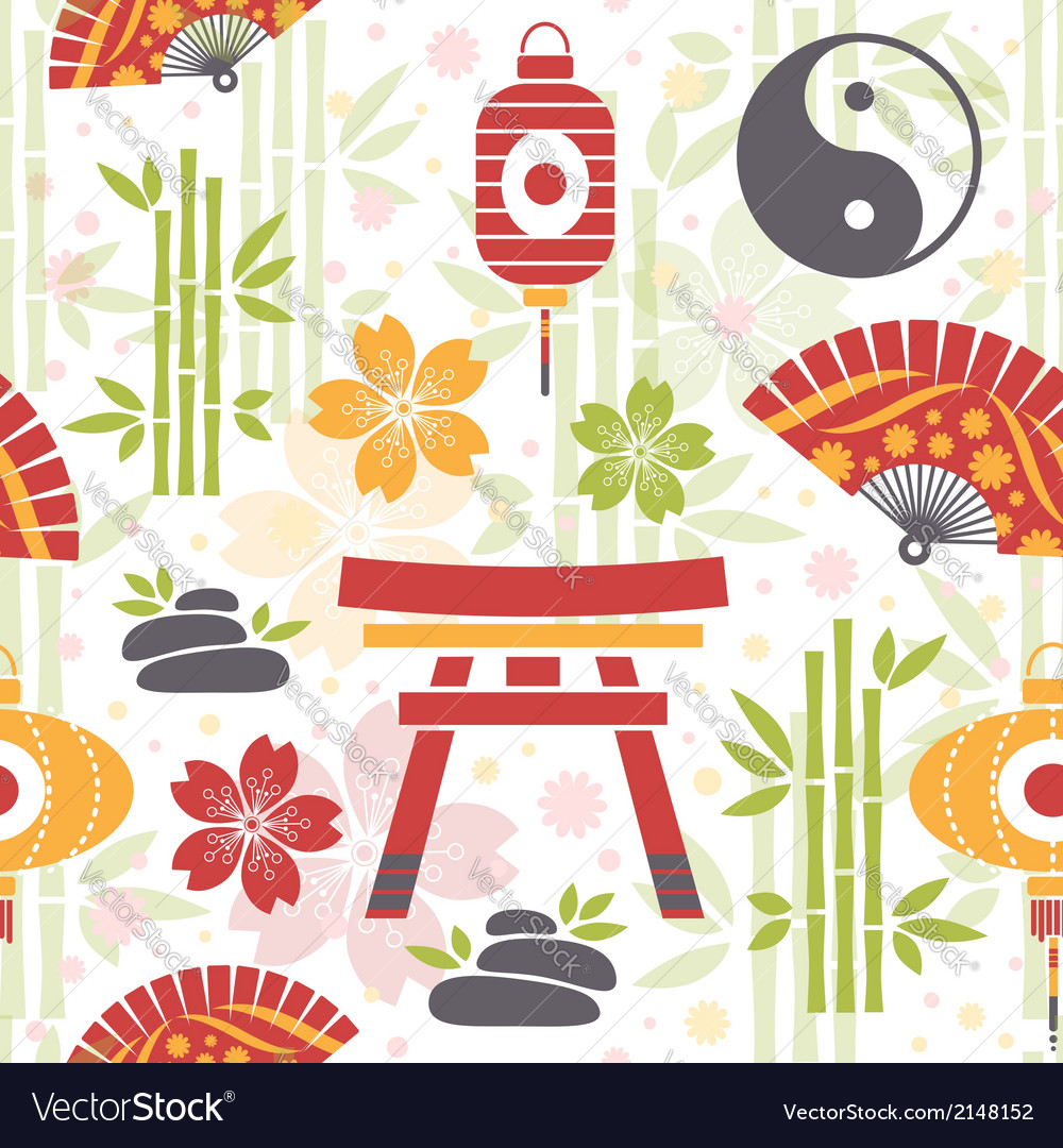 Oriental seamless pattern vector | Price: 1 Credit (USD $1)