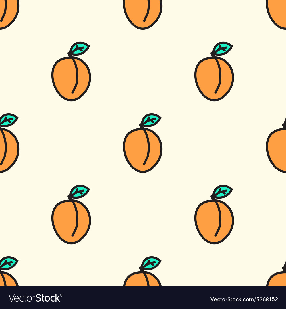 Seamless pattern with apricot vector   Price: 1 Credit (USD $1)