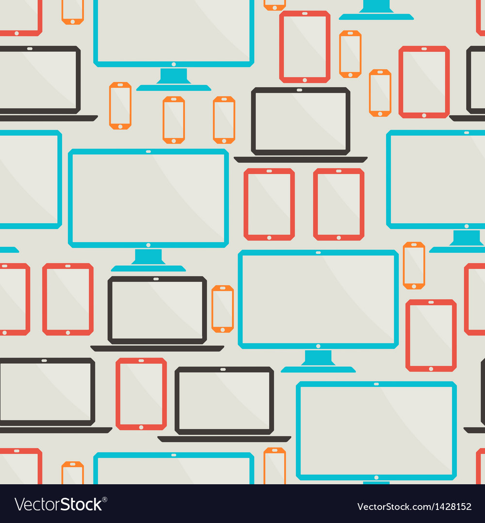 Seamless pattern with electronic devices vector   Price: 1 Credit (USD $1)