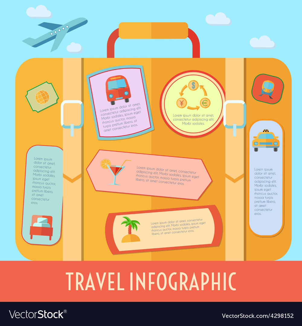 Travel infographics set vector | Price: 1 Credit (USD $1)