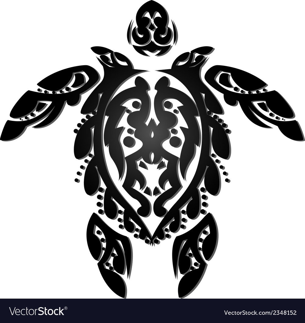 Turtle tattoo vector | Price: 1 Credit (USD $1)