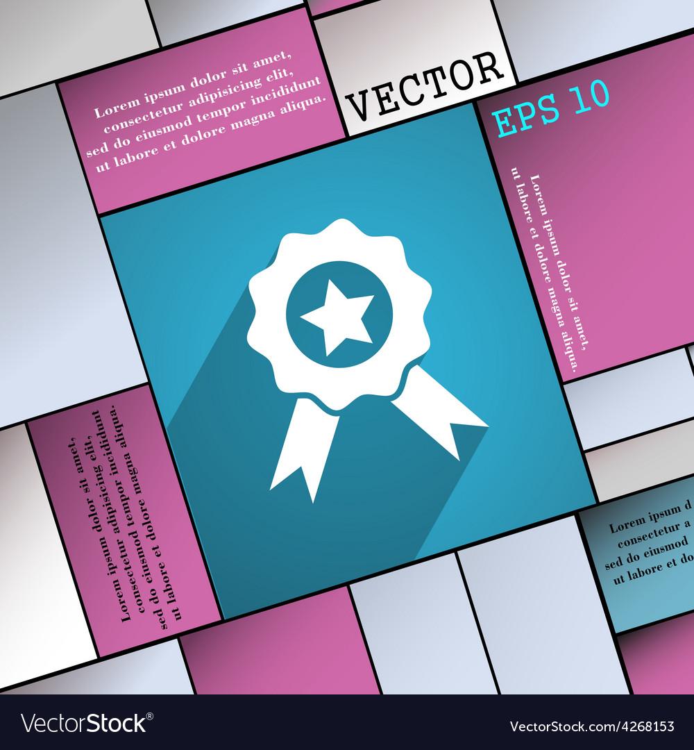 Award medal of honor icon symbol flat modern web vector | Price: 1 Credit (USD $1)