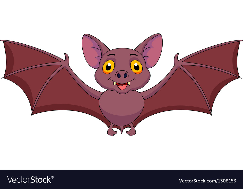 Bat cartoon flying vector | Price: 3 Credit (USD $3)