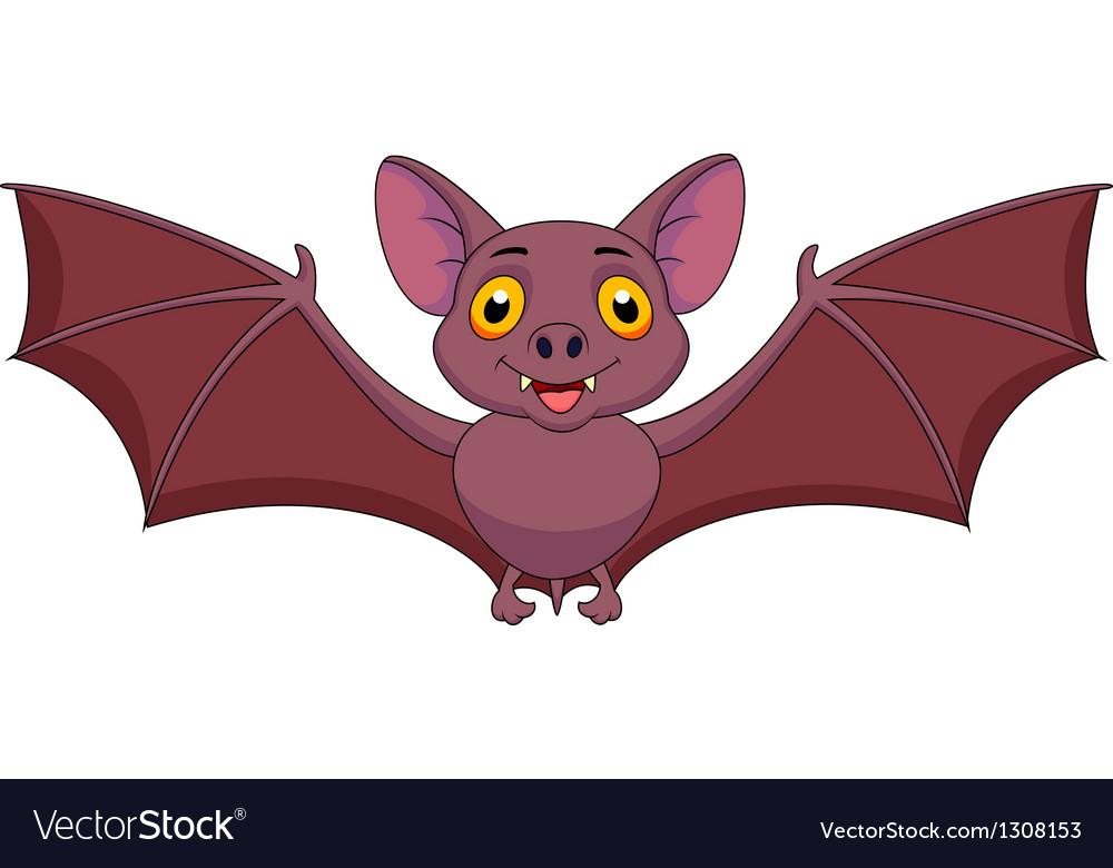 Bat cartoon flying vector | Price: 3 Credit (USD $3)