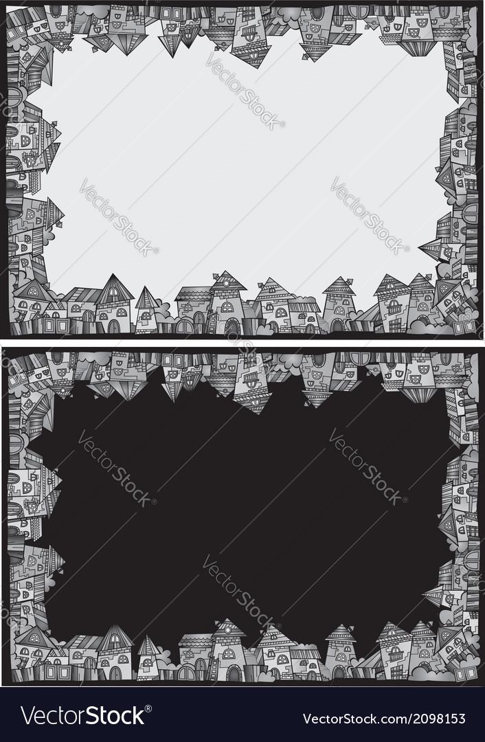 Cartoon construction town border set vector | Price: 1 Credit (USD $1)