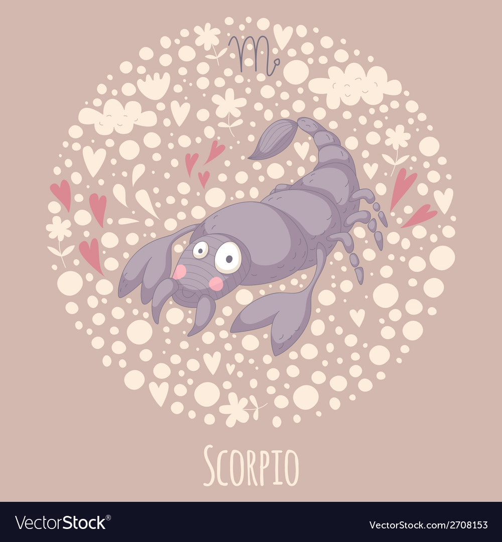Cartoon of the scorpion scorpio vector | Price: 1 Credit (USD $1)