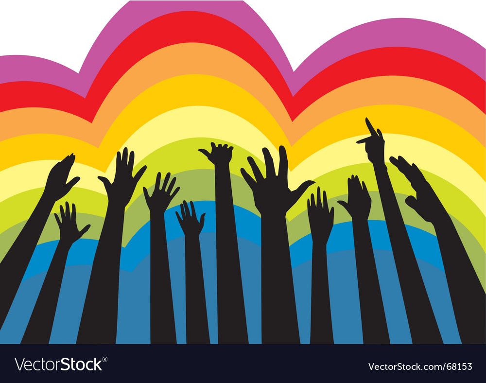 Cheering crowd colorful vector | Price: 1 Credit (USD $1)