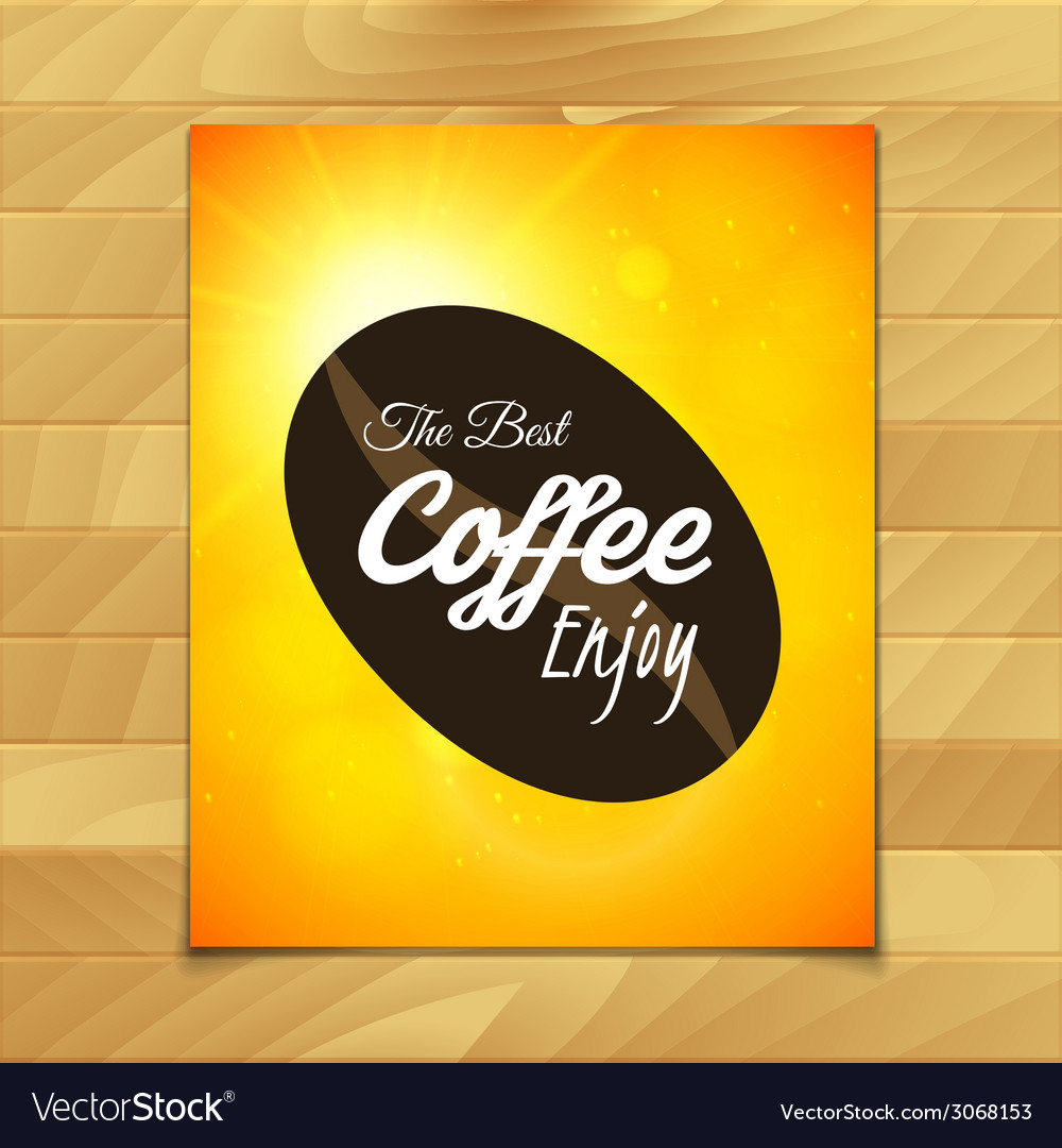 Menu template for restaurant the best coffee enjoy vector | Price: 1 Credit (USD $1)