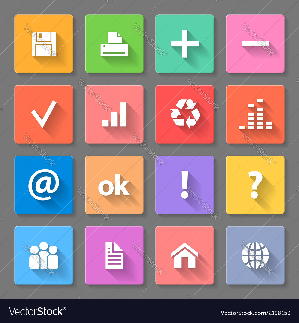 Set of flat icons vector | Price: 1 Credit (USD $1)