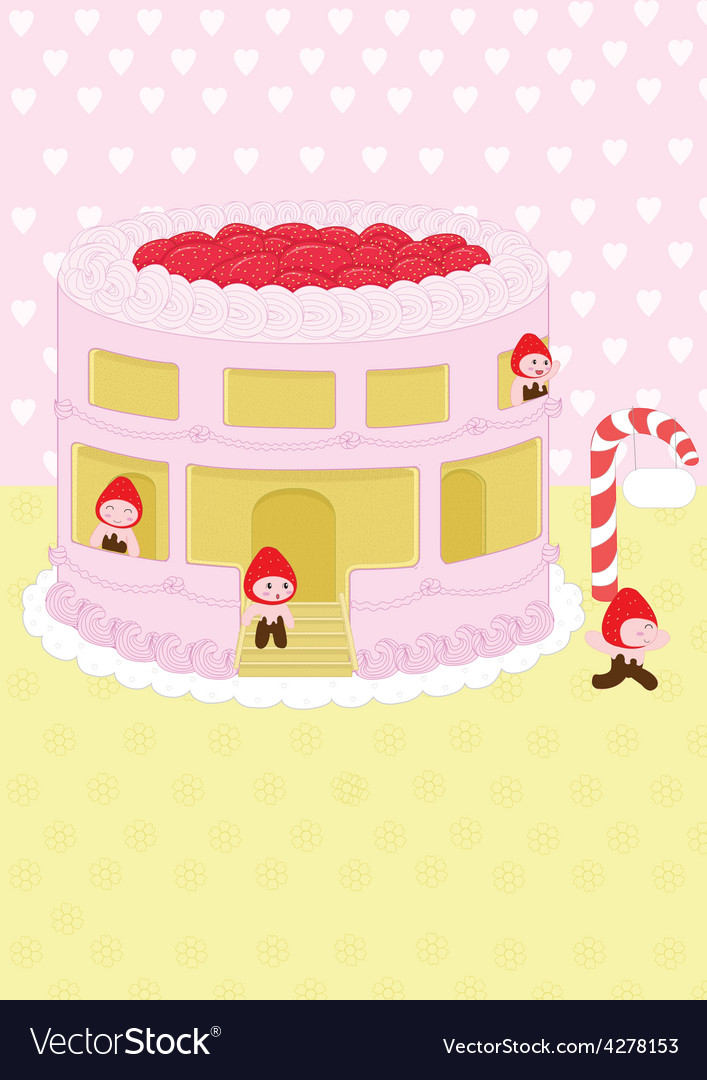Strawberry cheesecake home and background vector   Price: 1 Credit (USD $1)