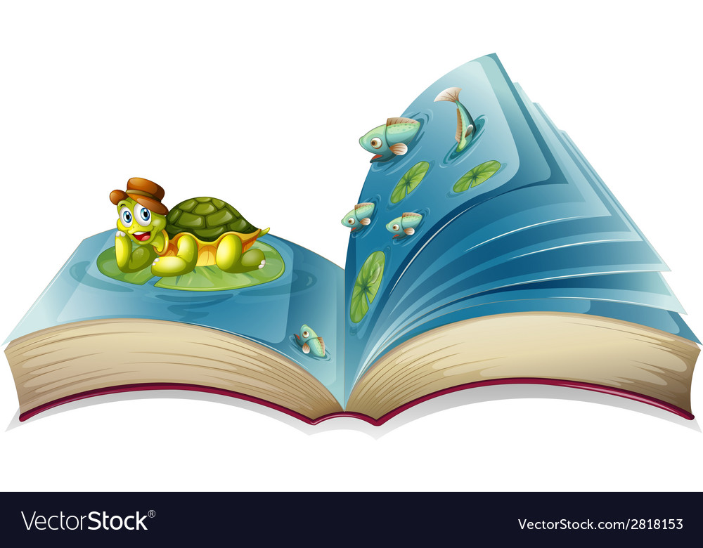 Turtle book vector | Price: 3 Credit (USD $3)