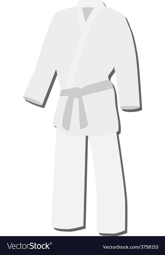 White kimono vector | Price: 1 Credit (USD $1)