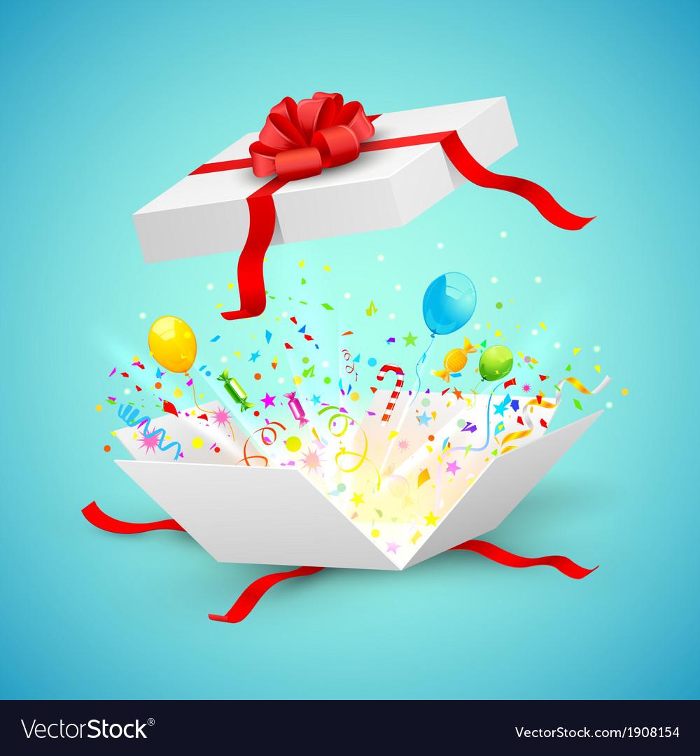 Celebration surprise gift vector | Price: 1 Credit (USD $1)