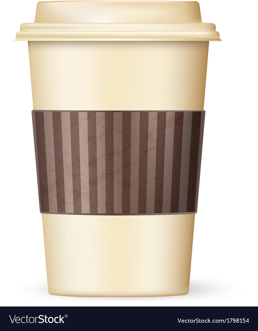 Coffee cup to go 01 vector | Price: 1 Credit (USD $1)