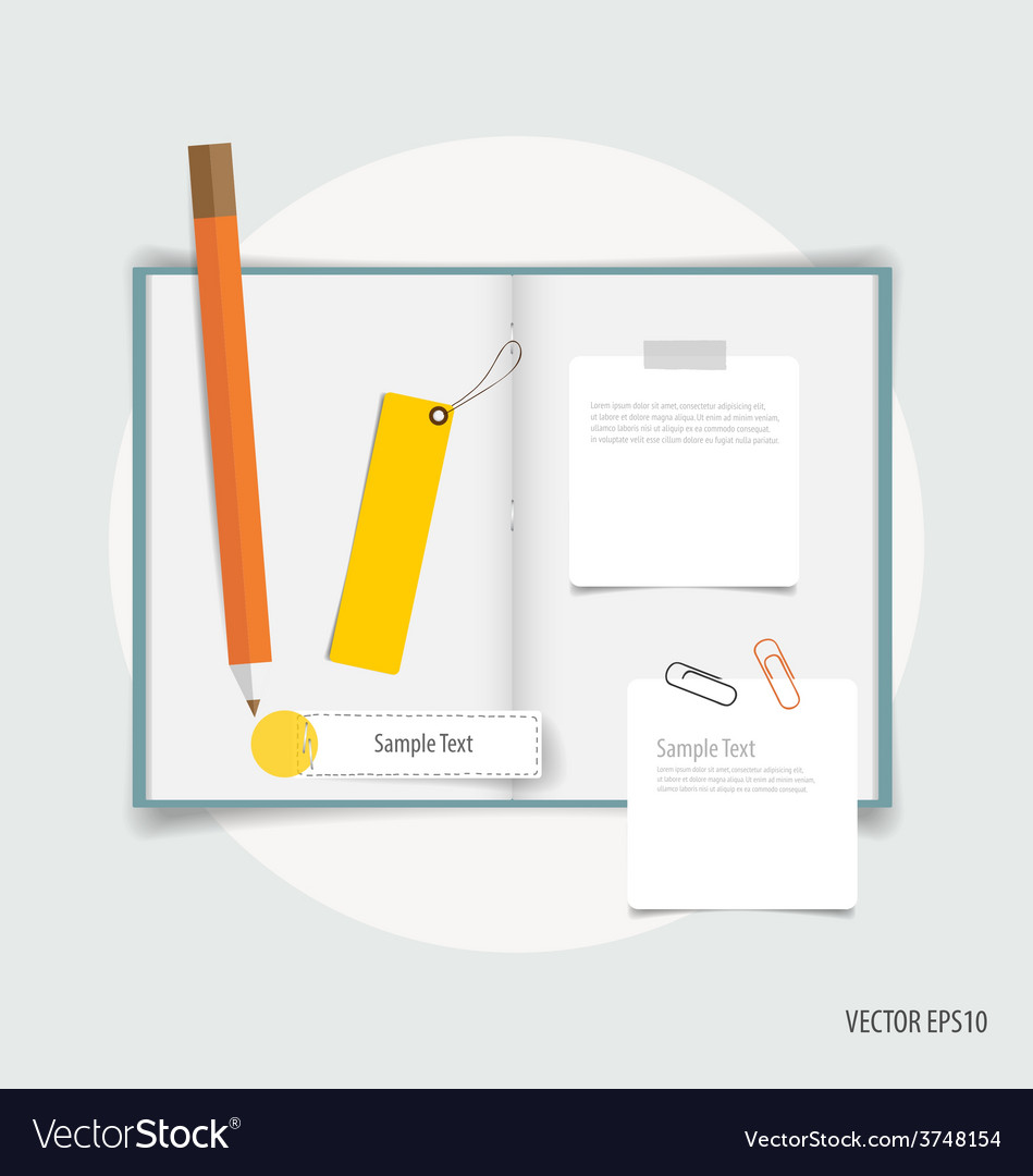 Collection of business items various papers paper vector | Price: 1 Credit (USD $1)