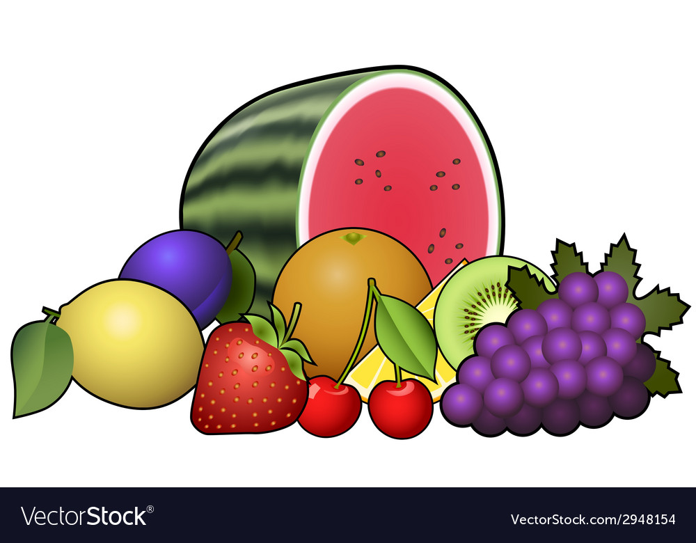 Fruits heap vector | Price: 1 Credit (USD $1)
