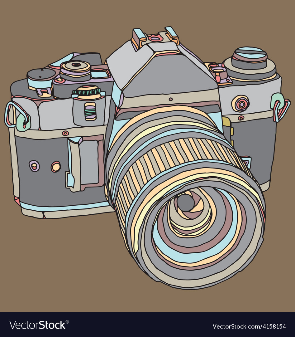 Old dslr camera vector   Price: 1 Credit (USD $1)