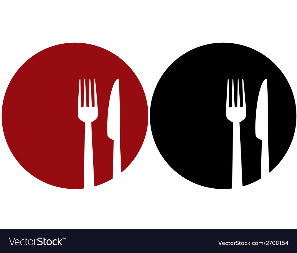 Plate with fork and knifexjadehigfsydzrrnxqwt vector | Price: 1 Credit (USD $1)