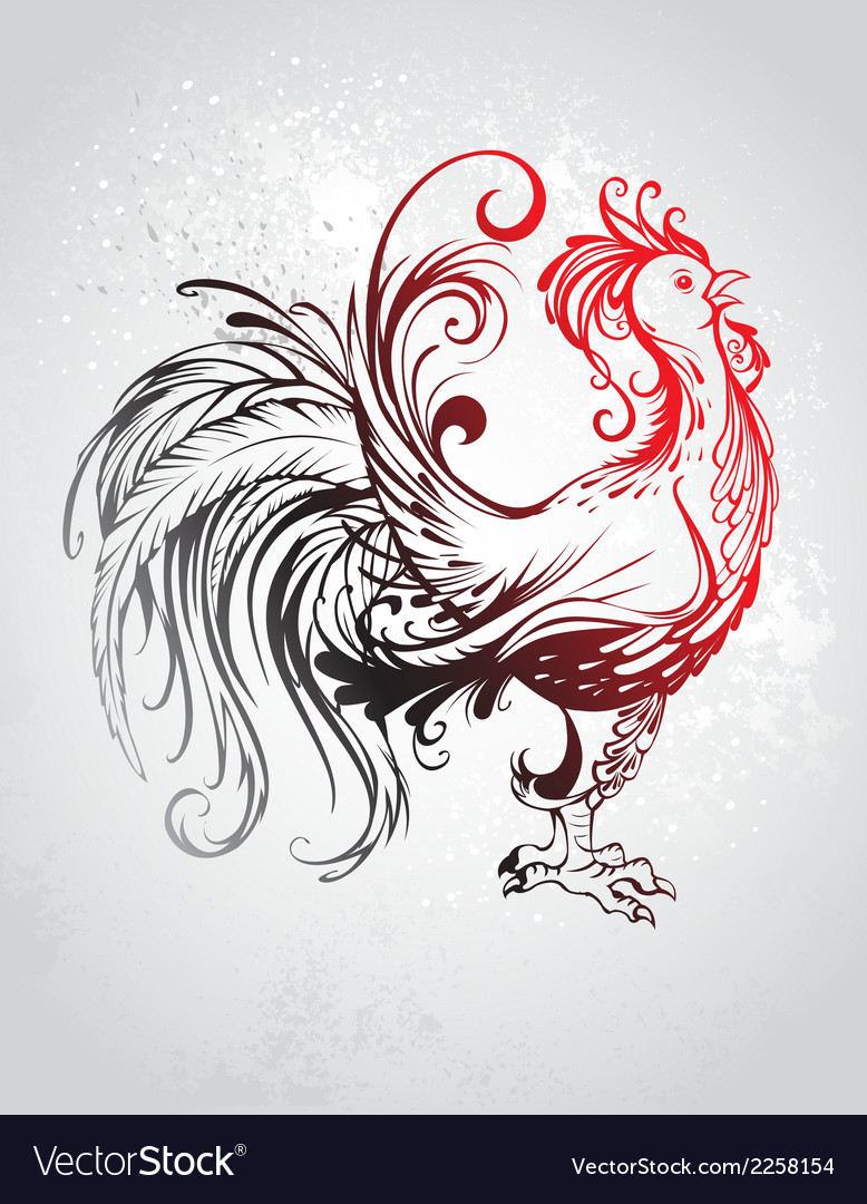 Red rooster vector | Price: 1 Credit (USD $1)