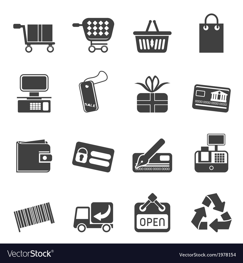 Simple online shop icons vector | Price: 1 Credit (USD $1)