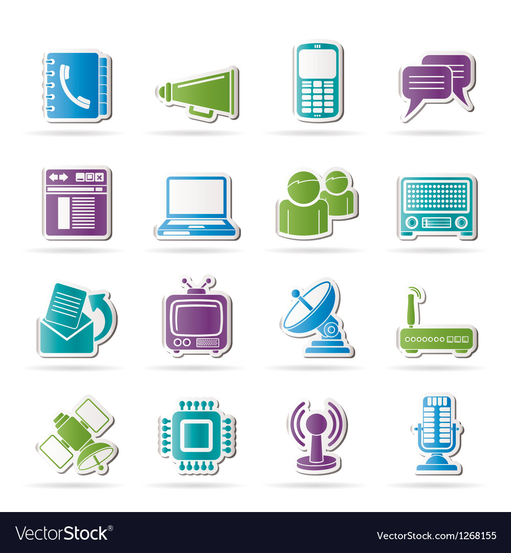 Connection and technology icons vector | Price: 1 Credit (USD $1)