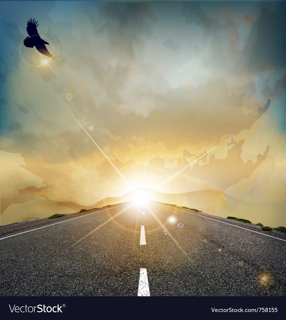 Eagle road background vector | Price: 1 Credit (USD $1)