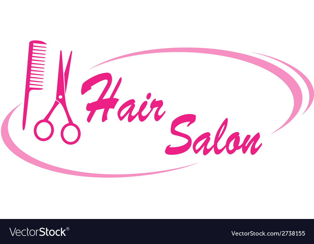 Hair salon sign vector | Price: 1 Credit (USD $1)