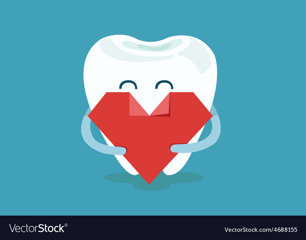 Heart of dental vector | Price: 1 Credit (USD $1)