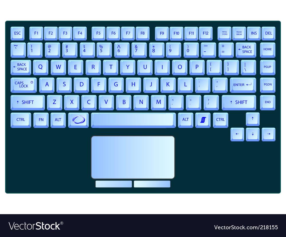 Laptop keyboard vector