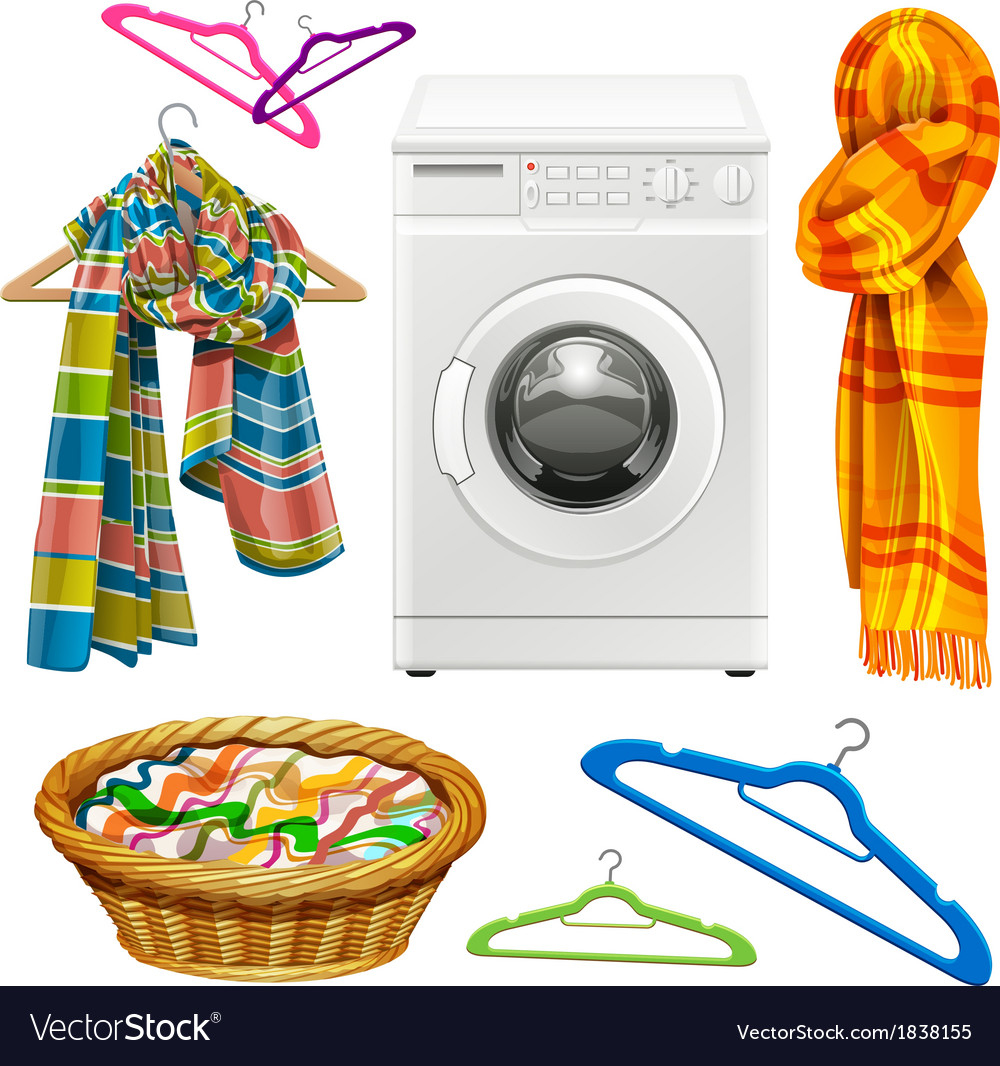 Laundry items vector | Price: 3 Credit (USD $3)