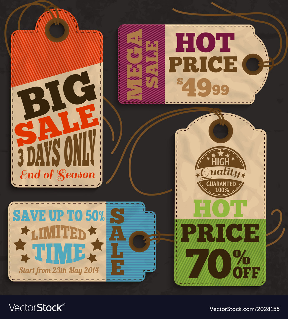 Shopping labels and tags collection vector | Price: 1 Credit (USD $1)