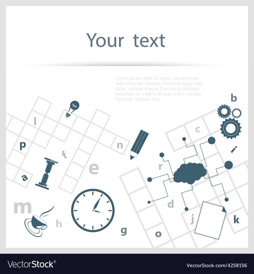 Crossword background vector | Price: 1 Credit (USD $1)