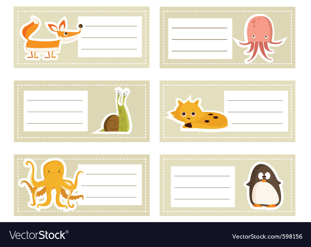 Cute animals vector | Price: 1 Credit (USD $1)