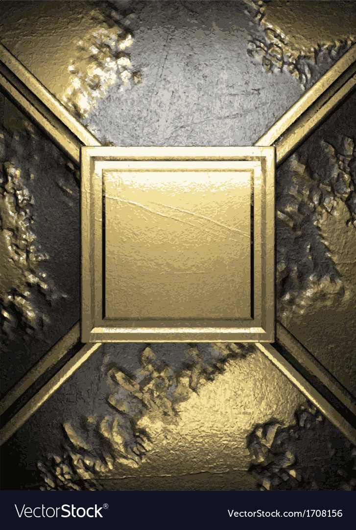 Gold on concrete background vector | Price: 1 Credit (USD $1)