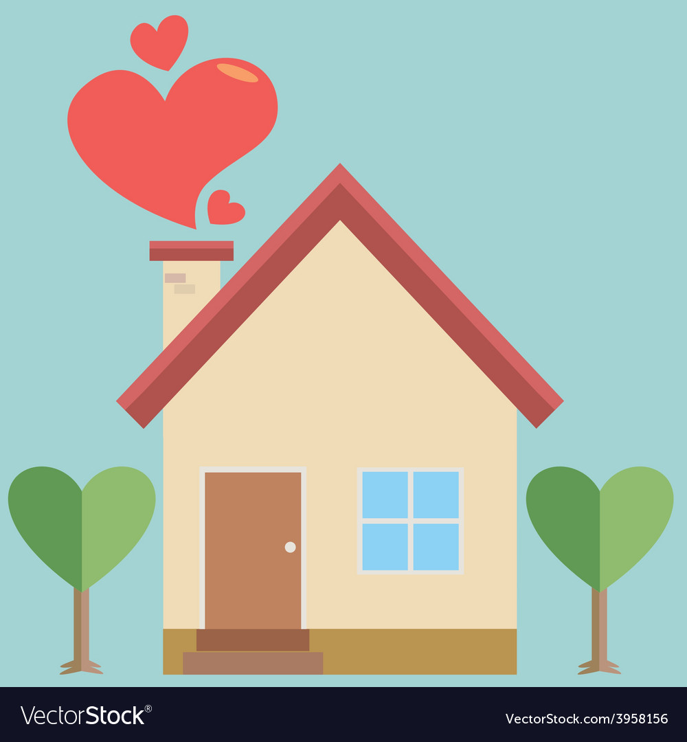 House of heart vector | Price: 1 Credit (USD $1)