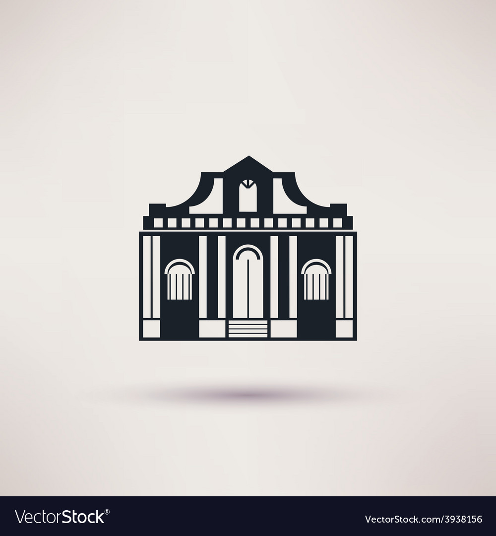 Museum building art icon flat isolated vector | Price: 1 Credit (USD $1)