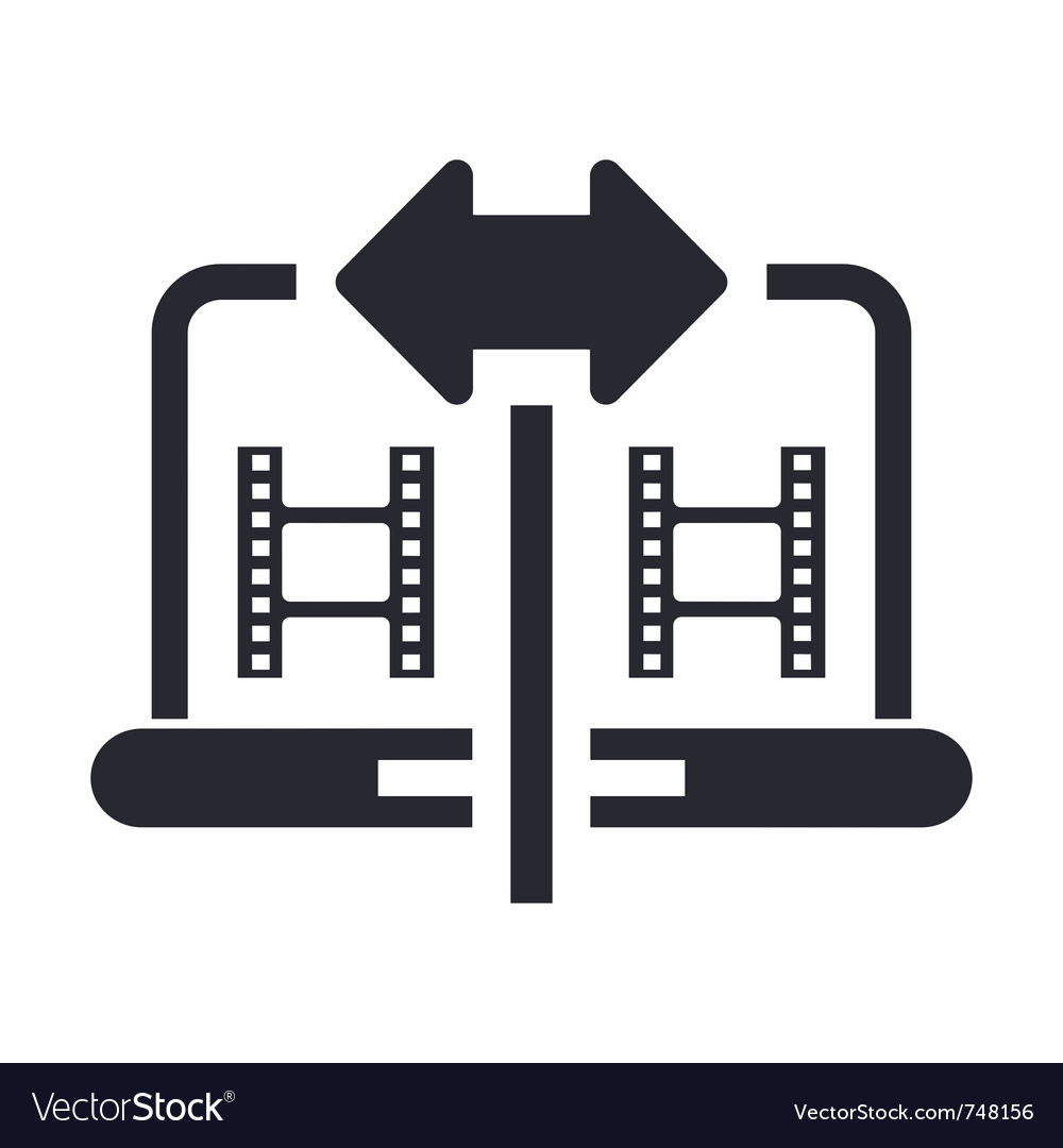 Video sharing icon vector | Price: 1 Credit (USD $1)