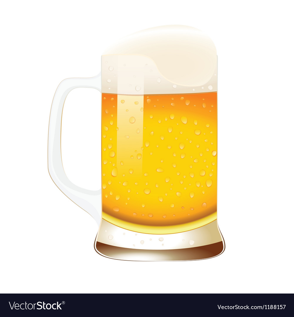 Beer mug with foam vector | Price: 1 Credit (USD $1)