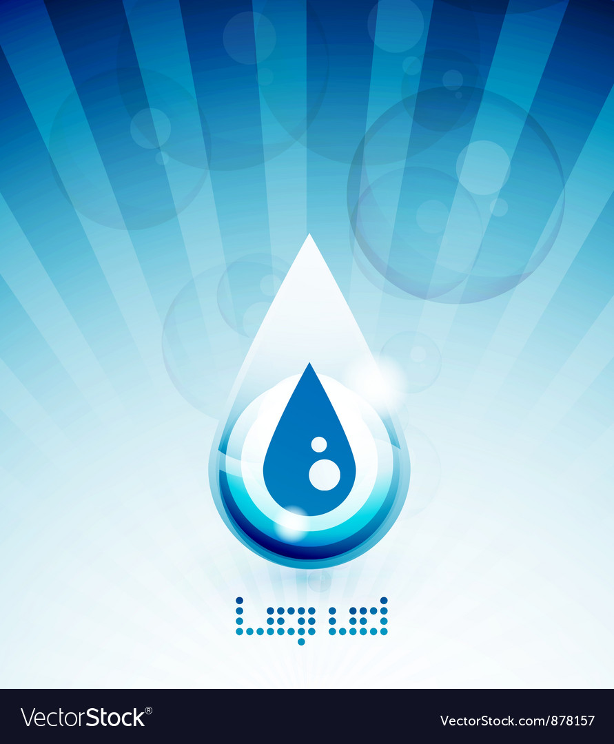 Blue water drop concept vector | Price: 1 Credit (USD $1)