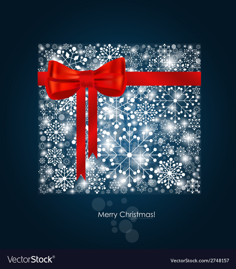 Christmas background with gift box made from vector | Price: 1 Credit (USD $1)