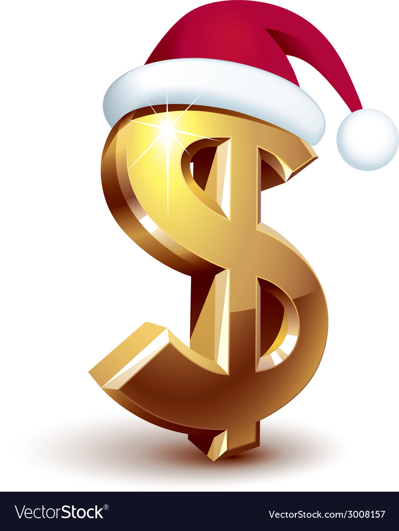 Christmas dollar vector | Price: 1 Credit (USD $1)