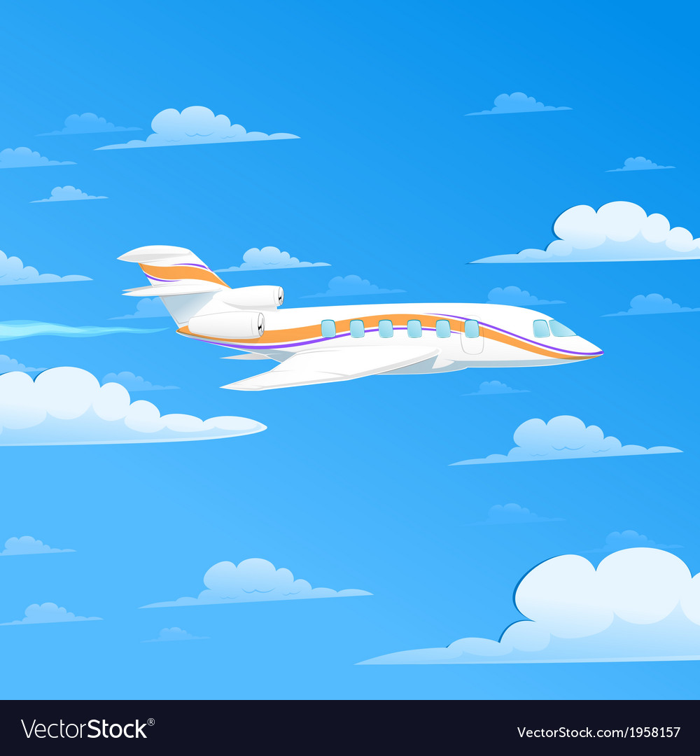 Flying plane vector | Price: 1 Credit (USD $1)