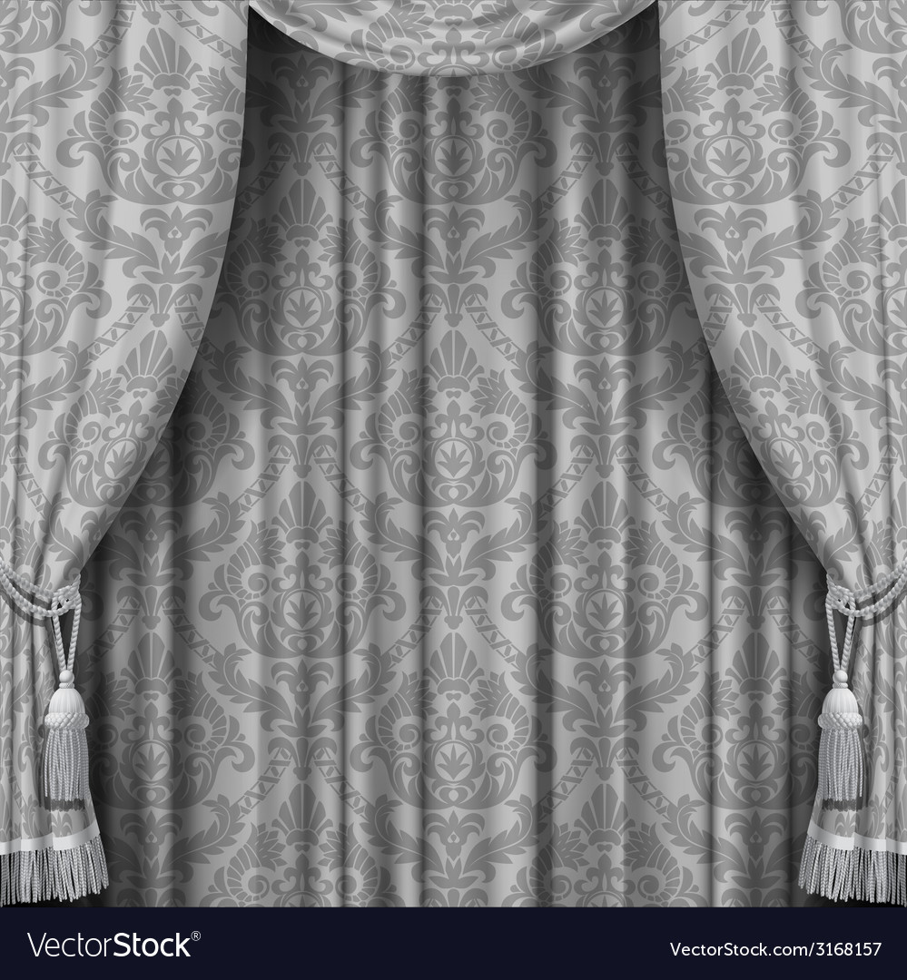Gray curtain vector | Price: 1 Credit (USD $1)