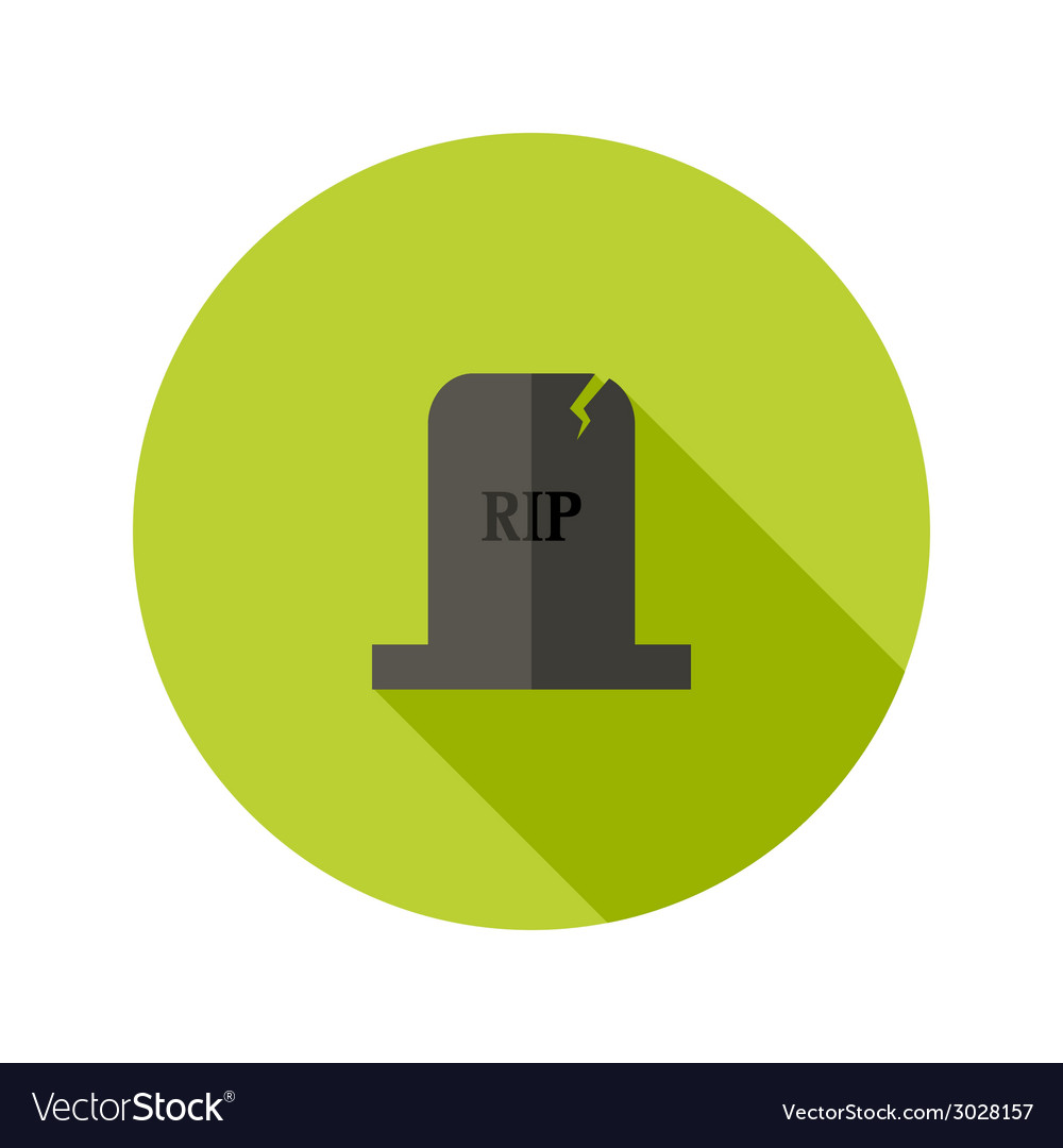 Grey tombstone rip flat icon vector | Price: 1 Credit (USD $1)