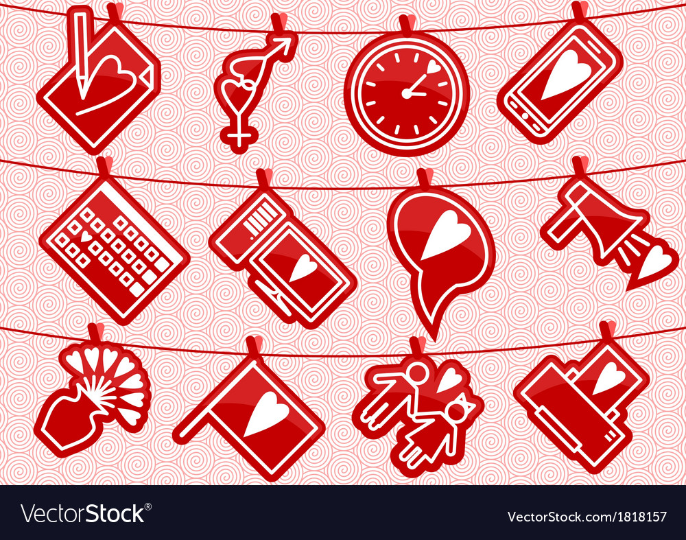 Haning love icons vector | Price: 1 Credit (USD $1)