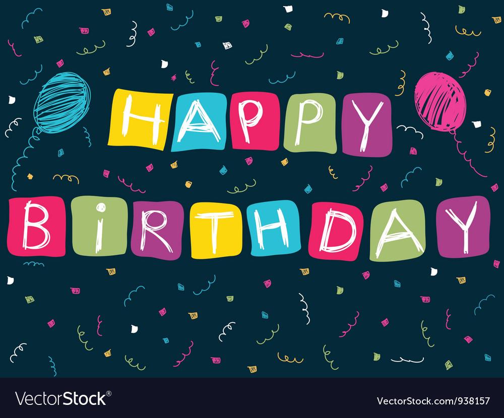 Happy birthday card vector | Price: 1 Credit (USD $1)