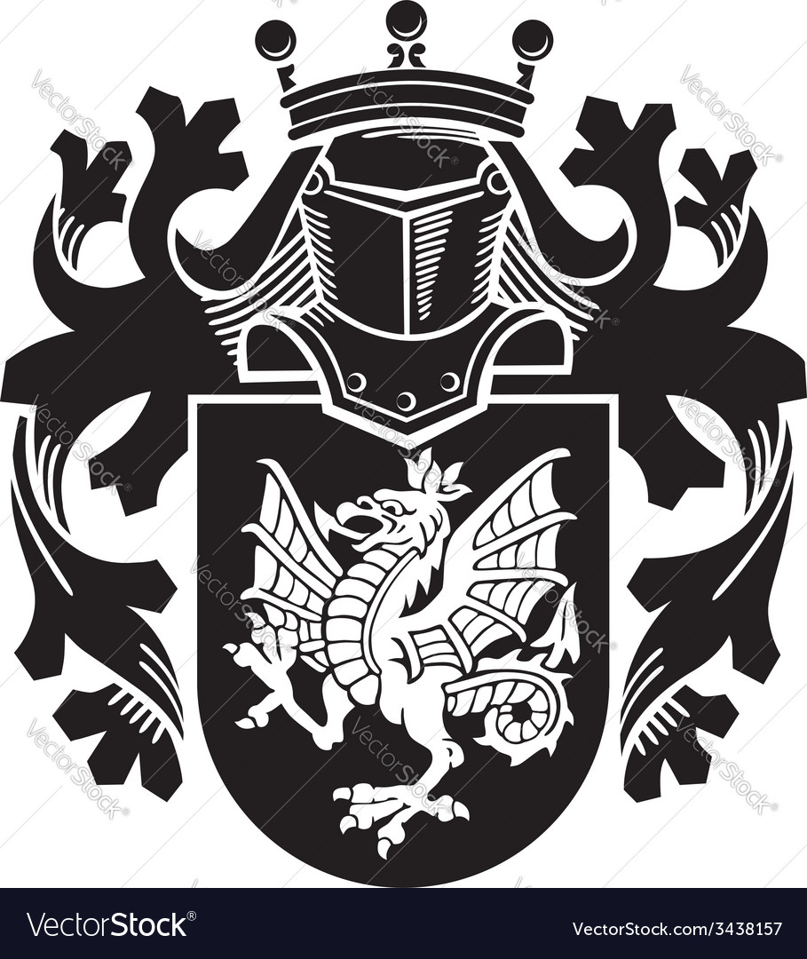 Heraldic silhouette no14 vector | Price: 1 Credit (USD $1)