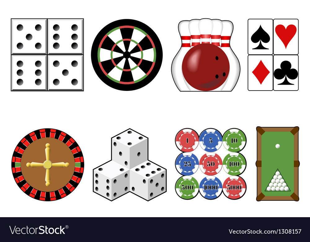 Set casino tools vector | Price: 1 Credit (USD $1)