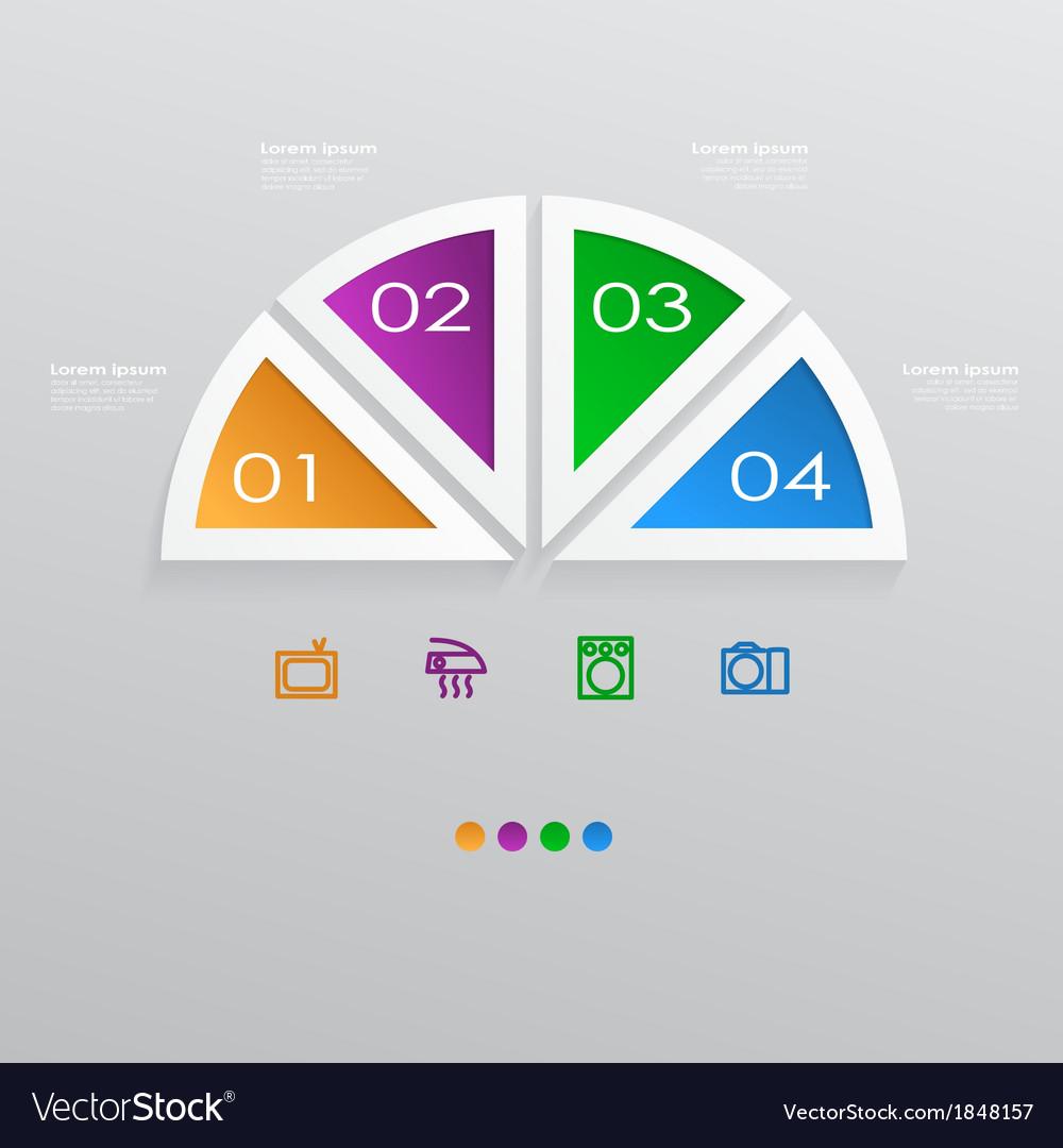 Sliced pie infographic vector | Price: 1 Credit (USD $1)