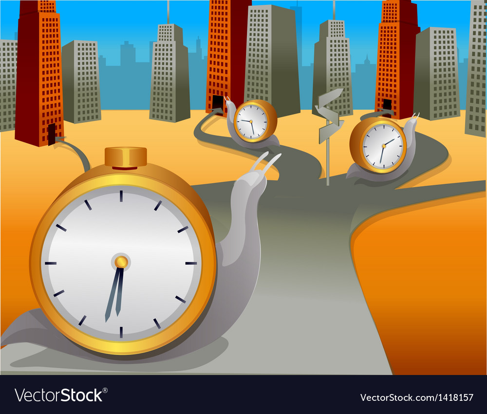 Snail clock moving direction vector | Price: 1 Credit (USD $1)